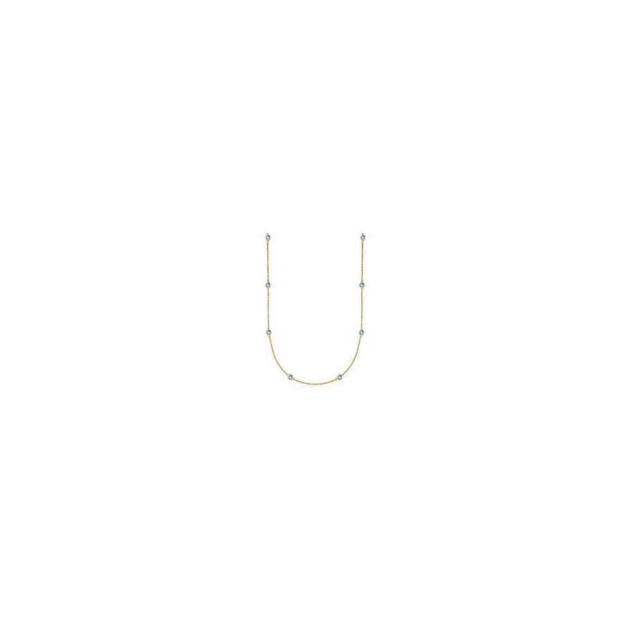 LoveBrightJewelry 14K Yellow Gold Sapphire Color by Yard Necklace. 4ct.tw by Love Bright