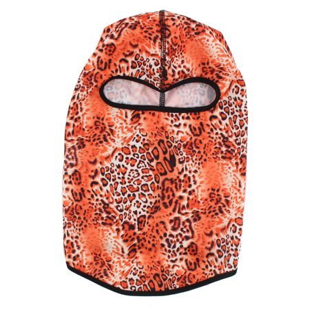 Outdoor Lycra Camouflage Full Face Mask Balaclava Cycling Hood Hat Cap Orange - image 3 of 5