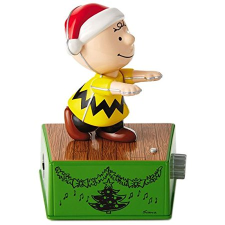 Peanuts Charlie Brown Christmas Dance Party Figurine With Music and Motion