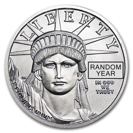 1 4 Oz Platinum American Eagle Bu  Random Year