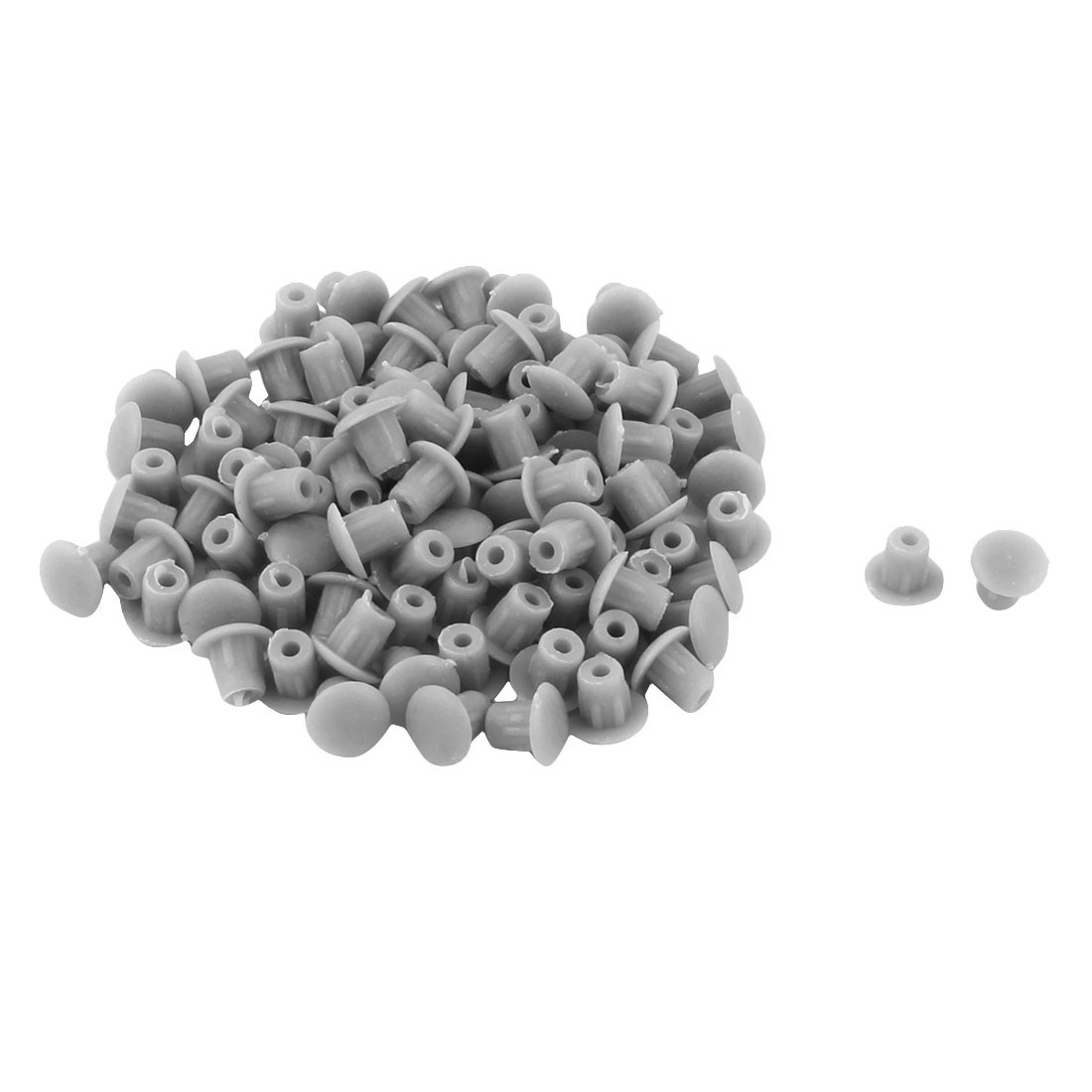 Furniture Table Chair Pipe End Hole Drilling Cover Plugs Insert Gray 5mm 100pcs