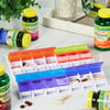 Equate 4-A-Day Weekly Large Pill Planner, Easy Open Pill Organizer for Medication, Vitamins, & Supplements