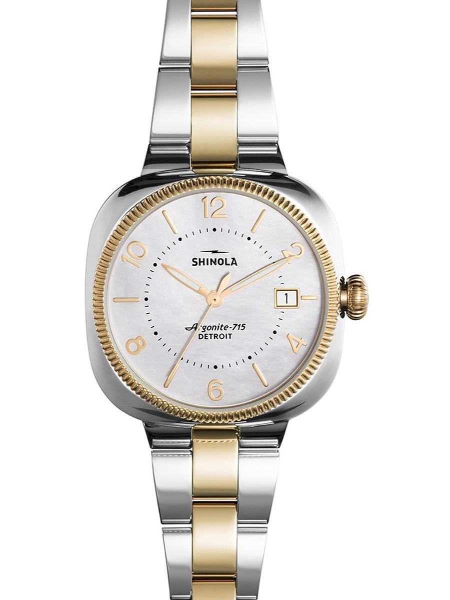 Shinola 120001103 Women's Gomelsky MOP Dial Two Tone Steel Watch