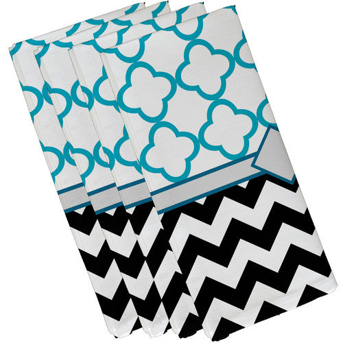 e by design Express Line Geometric Napkin (Set of 4)