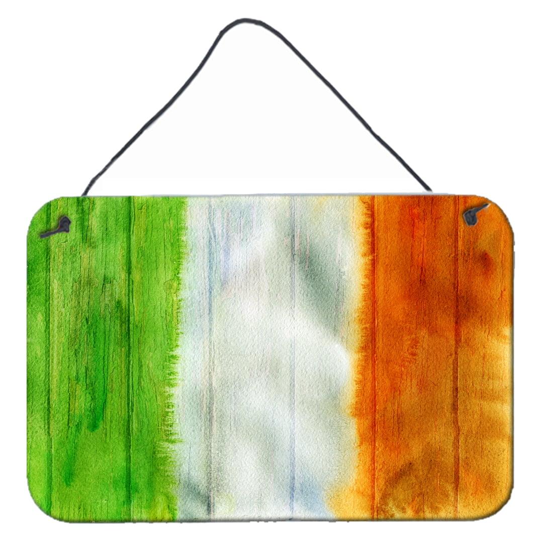 Irish Flag on Wood Wall or Door Hanging Prints BB5753DS812 by Caroline
