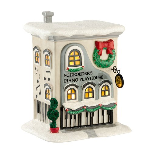 Department 56 Peanuts Village Schroeder's Piano Playhouse, 7.25-Inch