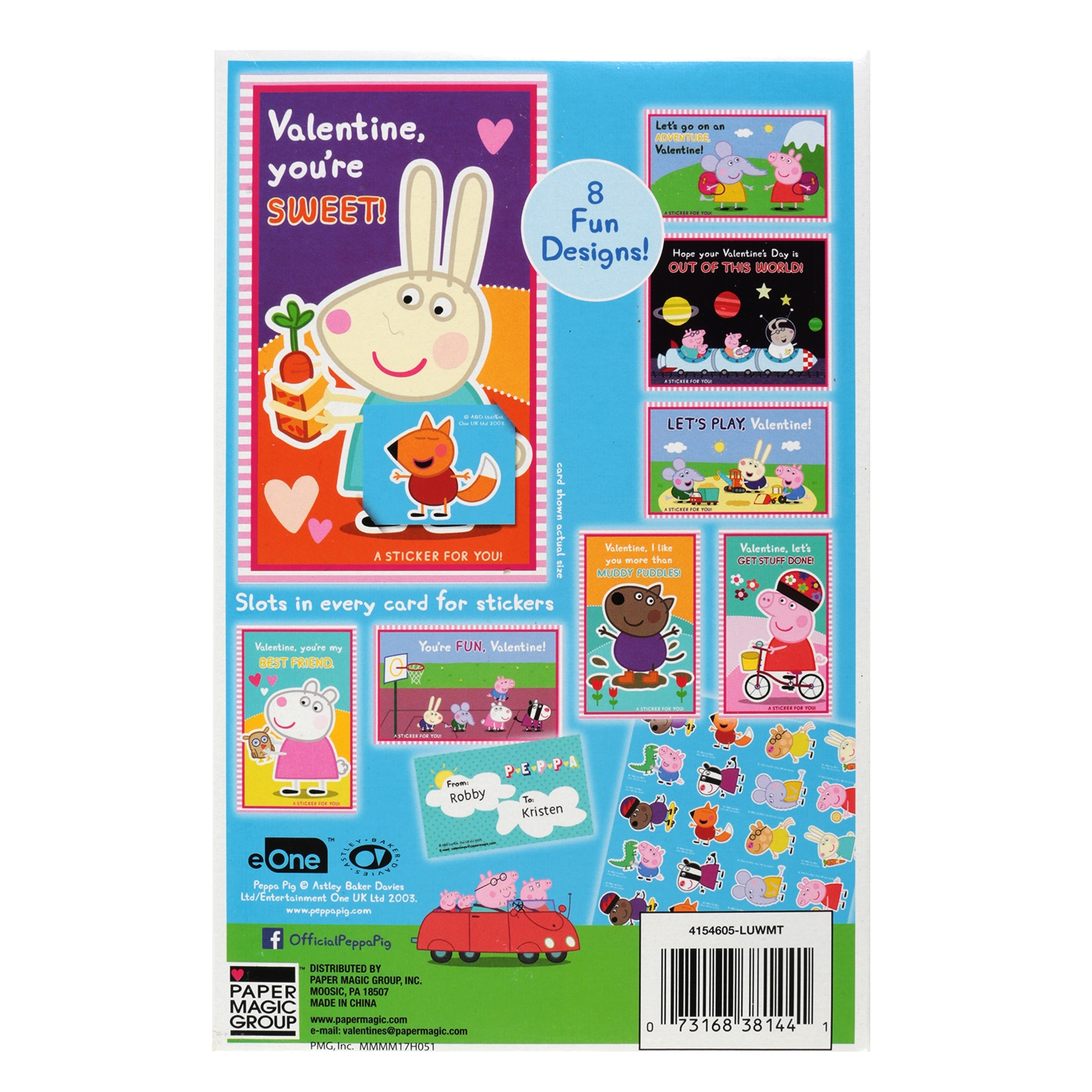 32ct peppa pig valentine cards with stickers walmart m4hsunfo