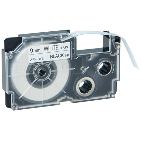 GREENCYCLE 1PK Black on White Label Tape Compatible for Casio XR9WE XR-9WE (9mm 0.35''x 8m 26ft) EZ Label (Casio Easy Label Printer)