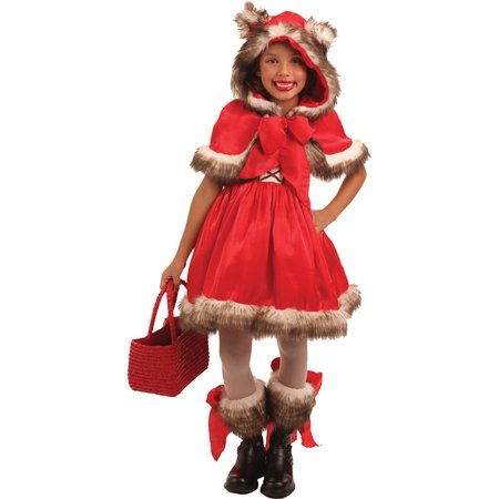 Morris Costumes Girls Storybook Little Red Riding Hood Wolf Red 3-4, Style PP4119XS for $<!---->