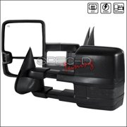 Spec D Tuning RMX-SIV99G3GLEDHP-FS Chrome Cover Towing Mirrors, Power Heated 99-02 Chevy Silverado