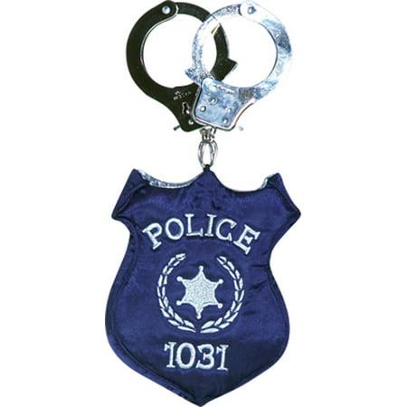 Police Officer Costume Purse Handcuffs Badge Handbag 5