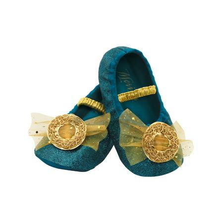 Merida Brave Disney Slippers Toddlers Costume Accessory Up To Size 6 - Brave Merida Costume