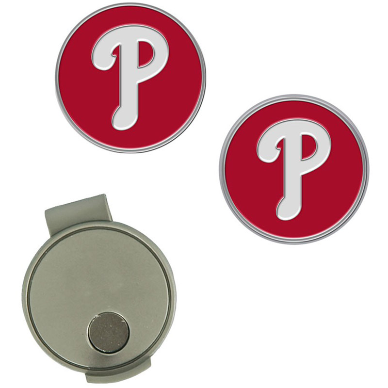 Philadelphia Phillies Hat Clip & Ball Markers Set - No Size