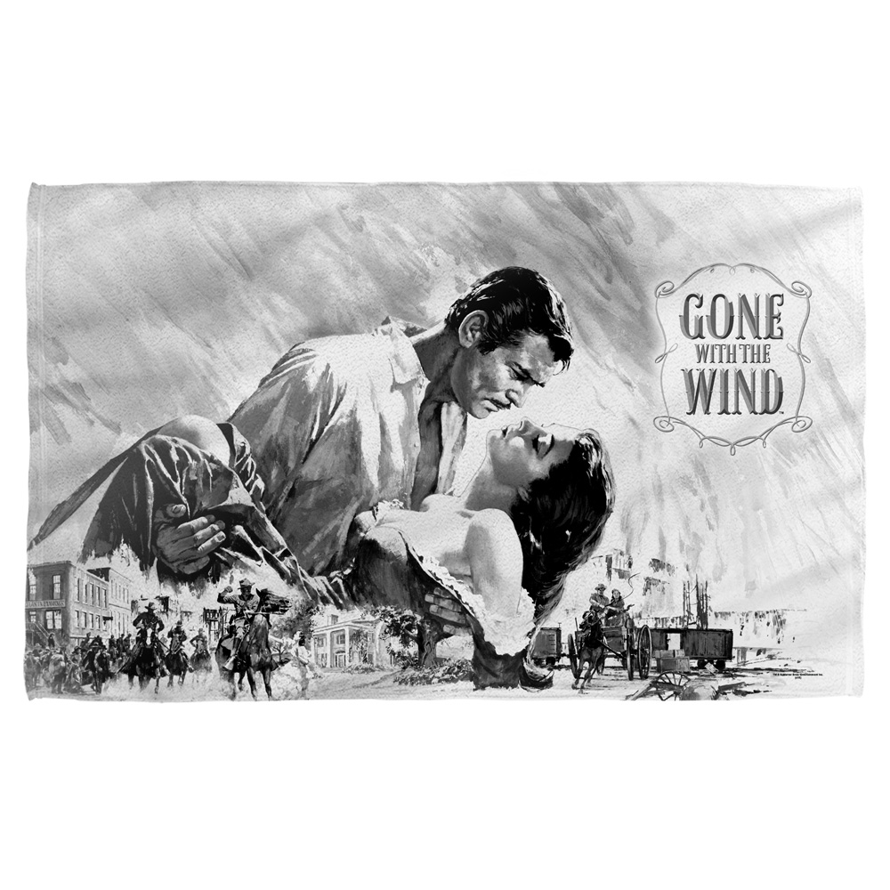 Gone With The Wind Bw Poster Bath Towel White 27X52