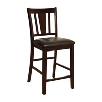 Villa Cushioned Counter Height Dining Chairs, Espresso, Set of 2