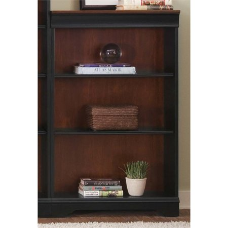 Liberty Furniture St. Ives Executive 3 Shelf Bookcase in (Liberty Chocolate)