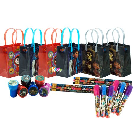 6 sets Coco Disney Pixar Birthday Party Supply Favor Gift Bags Stamper - Disney Gift Bag