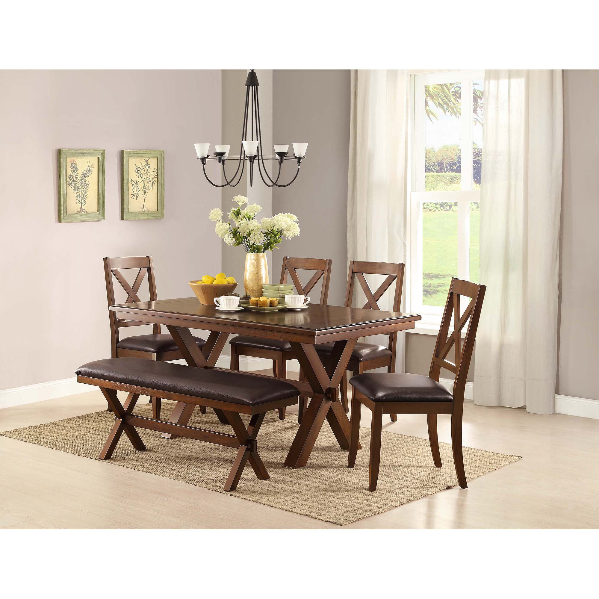 better homes and gardens maddox crossing dining table brown walmartcom