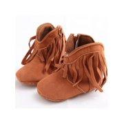Newborn Baby Fringe Tassel Boots Infant Boy Girl Non-slip Soft Soled Shoes