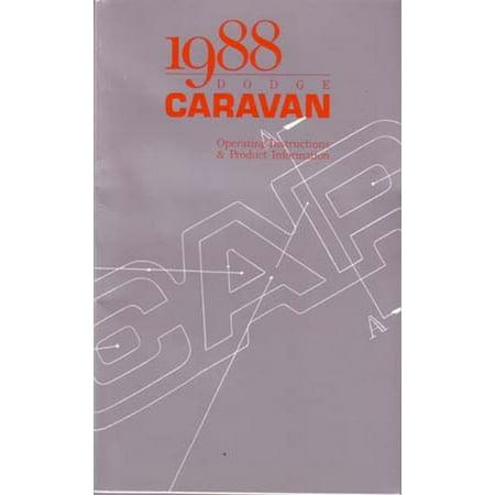 Bishko OEM Maintenance Owner's Manual Bound for Dodge Truck Caravan 1988 Dodge Caravan Car Owners Manual