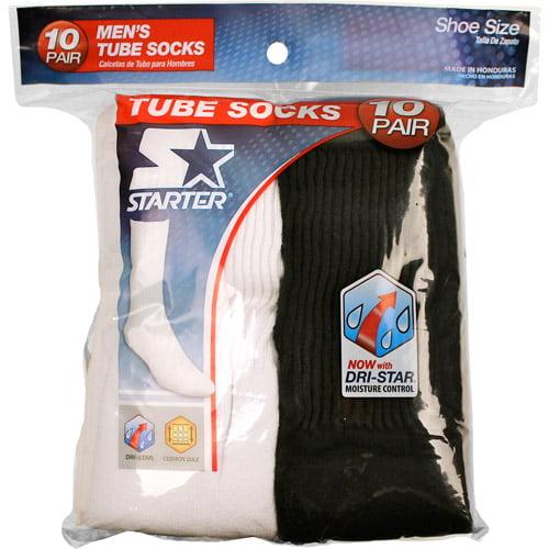 Starter Men's Tube Socks, 10-Pack