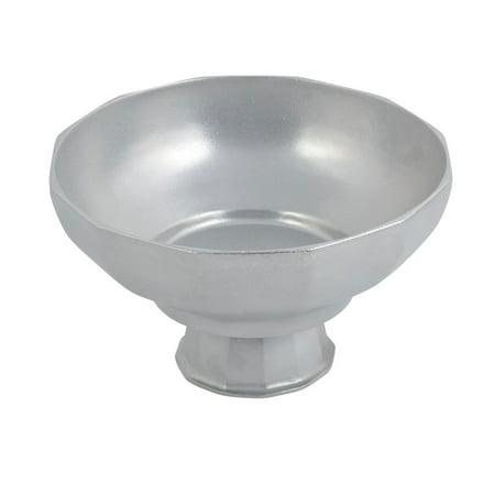 Footed Pedestal (4 qt 12 1/4 x 7 inch Pedestal Prism Footed Bowl Pewter)