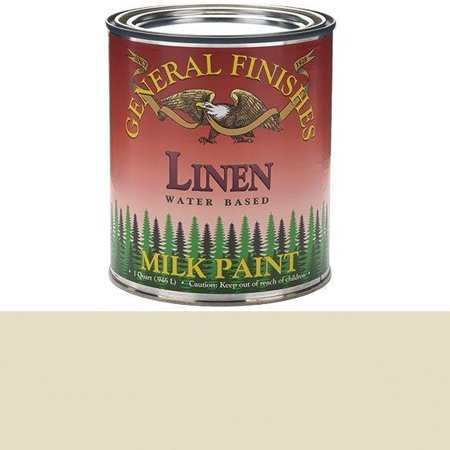 QLI Milk Paint, 1 quart, Linen, Milk paint can be used indoors or out and applied to furniture, crafts and cabinets By General Finishes From
