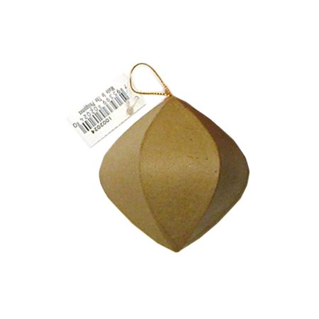 PA Paper Mache Ornament Rnd Point End Kraft (Papier Mache Halloween Pumpkin)