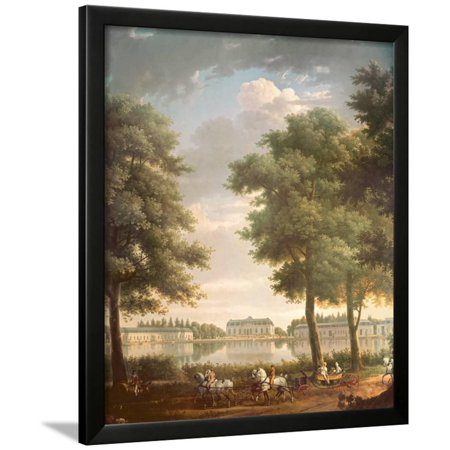 Schloss Benrath, 1806 Framed Print Wall Art By Antoine Charles Horace Vernet