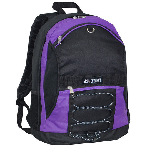 Everest Two-Tone Backpack with Mesh Pockets