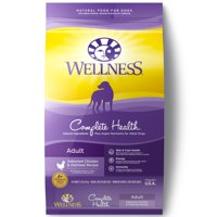 Wellness Complete Health Natural Dry Dog Food, Chicken & Oatmeal, 15-Lb Bag