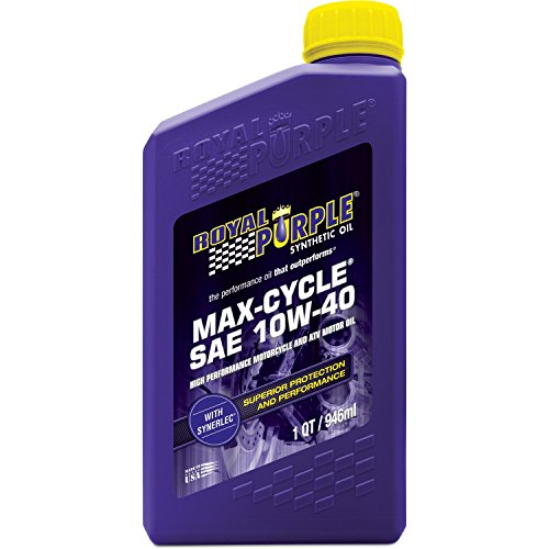 Royal Purple 01315 Max Cycle 10W-40 High Performance Synthetic Motorcycle Oil -