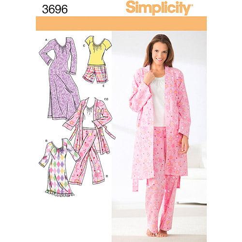 Simplicity Pattern Misses' Pants or Shorts, (XXS, XS, S, M)