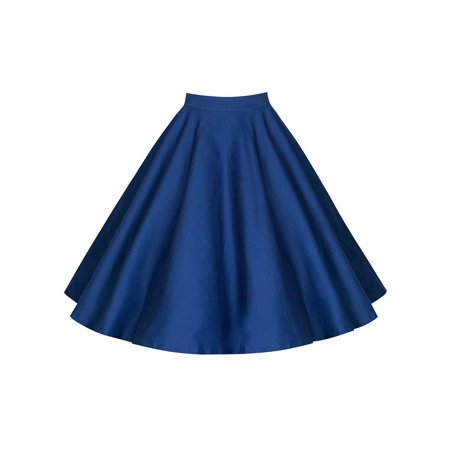 3cf00ac53 HIMONE - Vintage Women Casual Party Pleated Skirt Floral Print Solid Retro Skater  Flared Swing A-Line Long Midi Mini Skirt Dress - Walmart.com