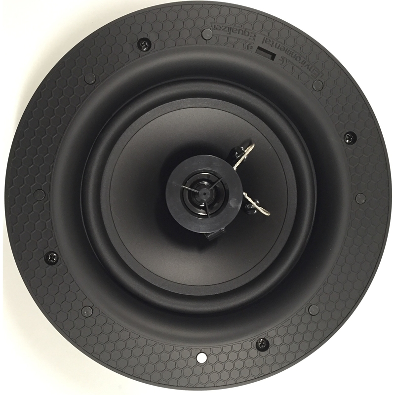 """White 80W RMS 6.5"""" 2-Way In Ceiling Magnetic Grill Home Theater Speaker (each)"""