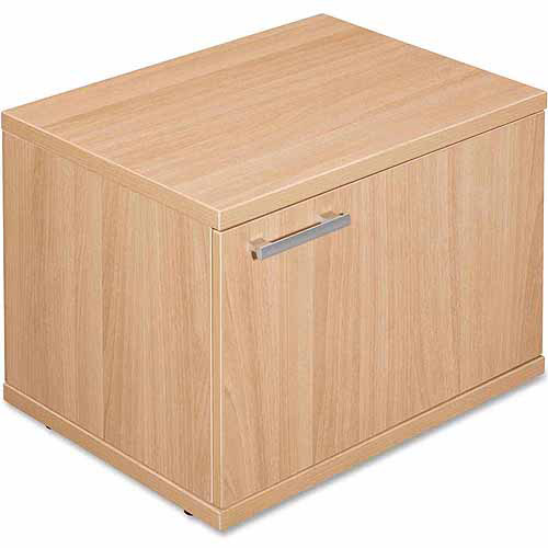 Lorell Concordia Series Low Storage Cabinet with Door, Latte ...