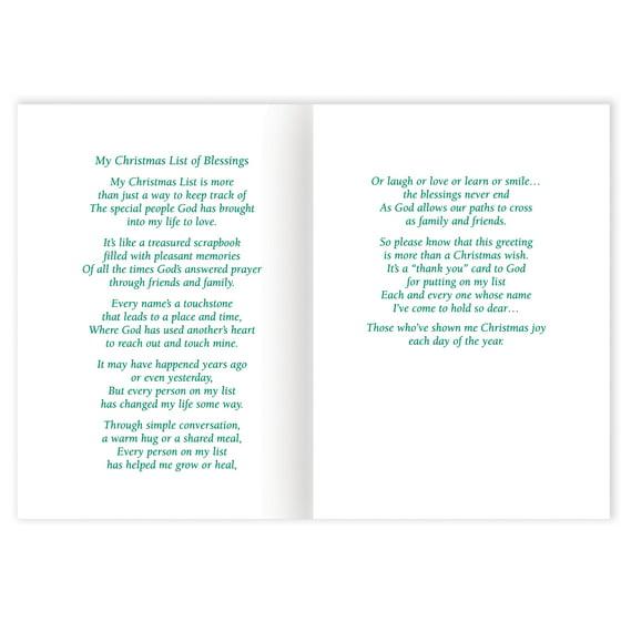 List of Blessings Embossed Set of 20