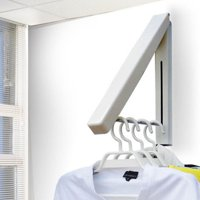 SUPERHOMUSE Stainless Steel Wall Hanger Retractable Indoor Clothes Hanger Magic Foldable Drying Rack Waterproof Clothes Towel Rack