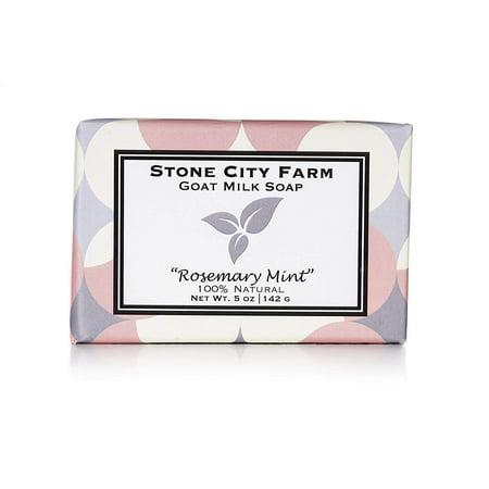 Stone City Farm Goat Milk Soap, Rosemary Mint, 5oz. Bar