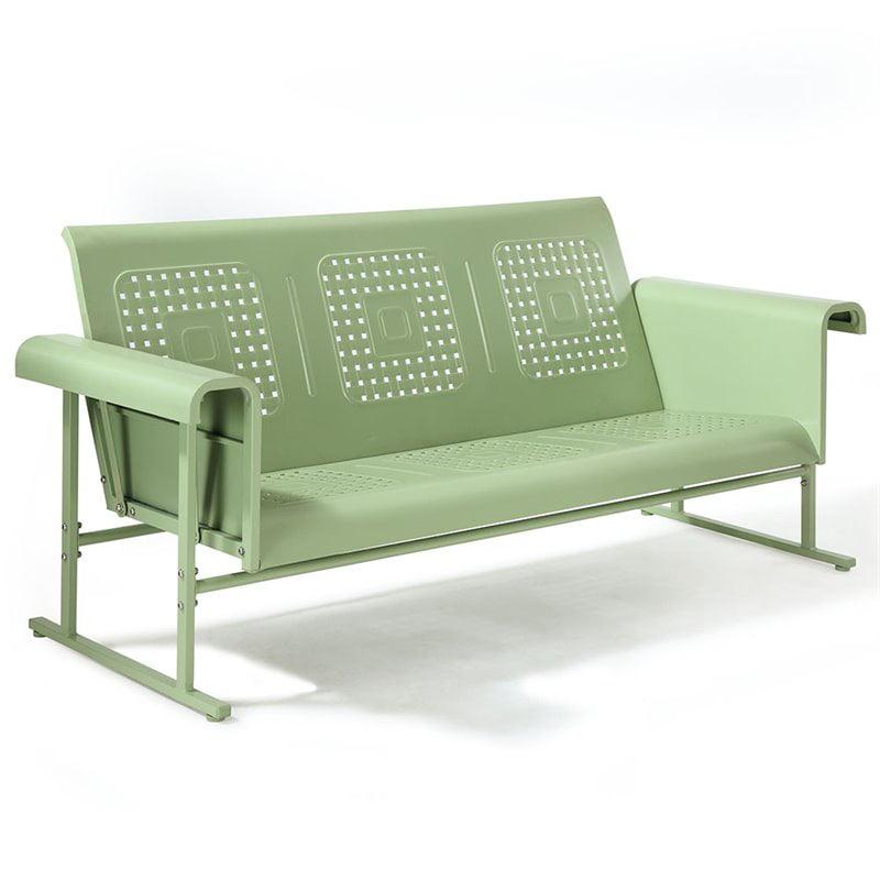 Crosley Furniture Veranda Sofa Glider In Oasis Green