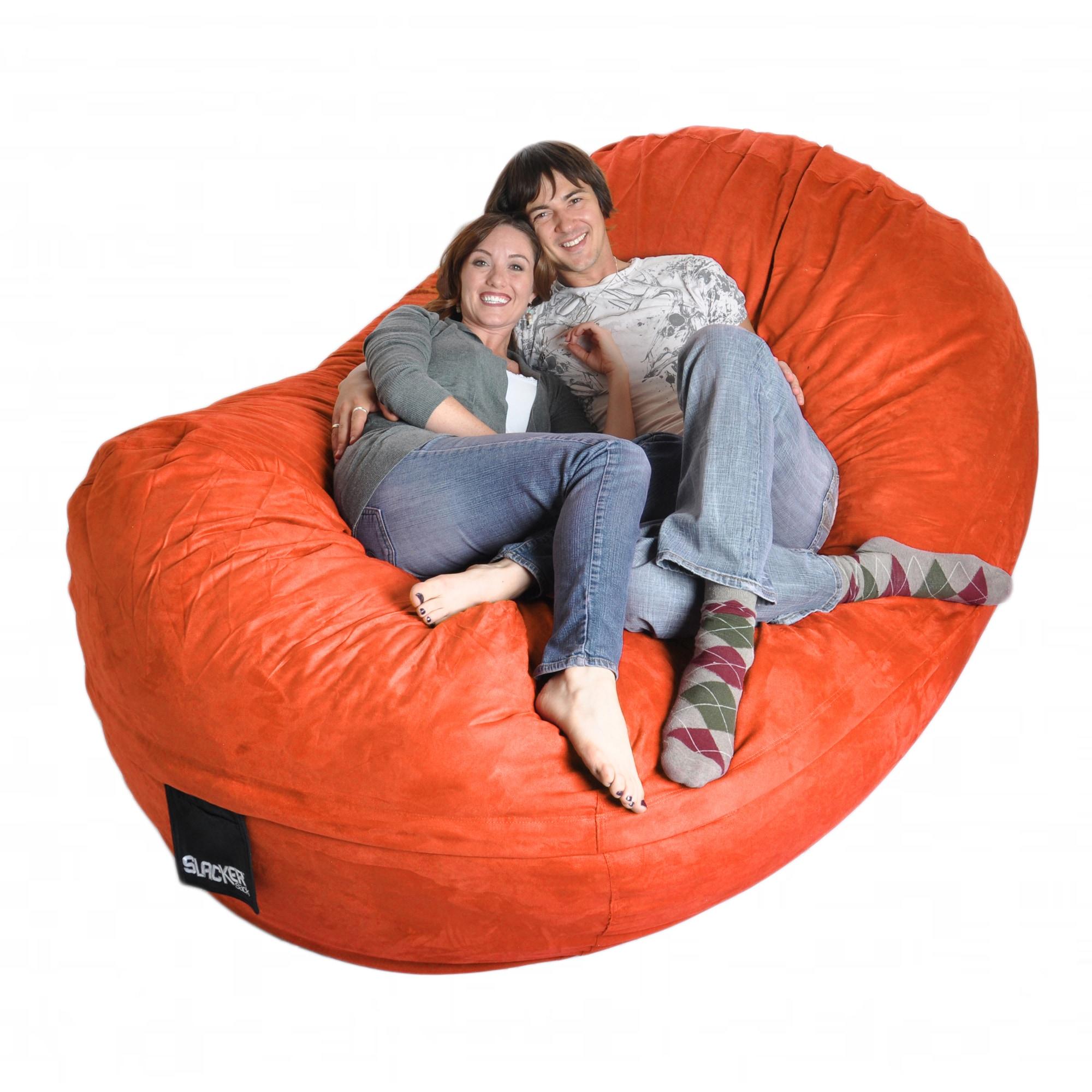 Slacker Sack Pumpkin Oval Microfiber/ Foam 8-foot Bean Bag