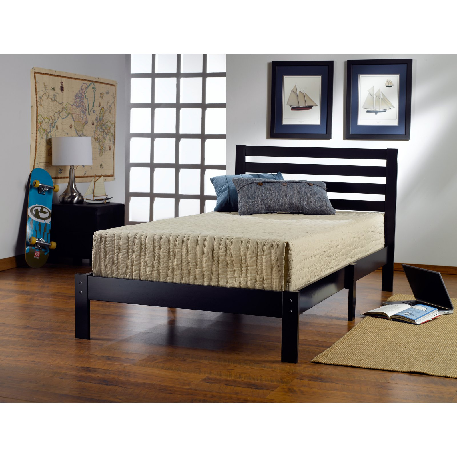Aiden Twin Bed, Black