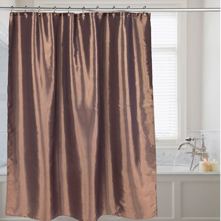Sweet Home Collection Faux Silk Shimmer Polyester Fabric Bath Shower Curtain