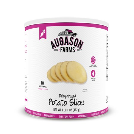 Augason Farms Dehydrated Potato Slices 1 lb 1 oz No. 10 Can (Dehydrated Alfalfa)