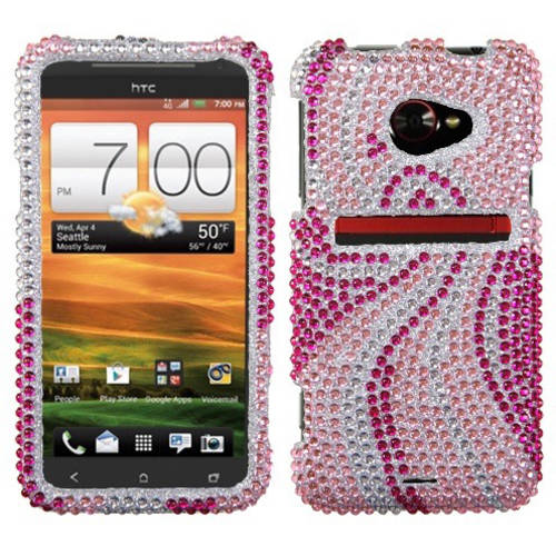 HTC Evo 4G LTE MyBat Protector Case, Phoenix Tail Diamante