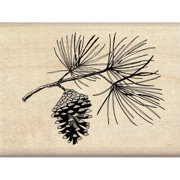 "Inkadinkado Mounted Rubber Stamp 3""X2.25"" Pine Bough"