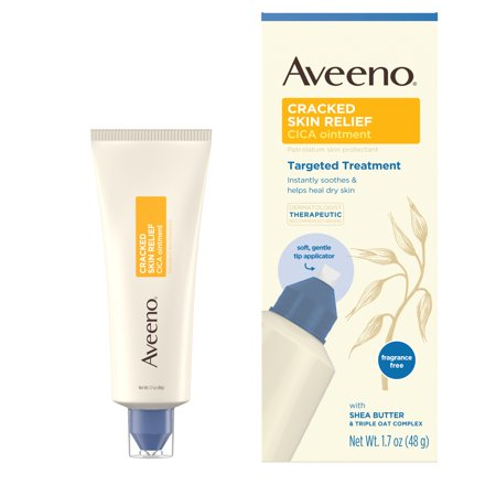 Aveeno Cracked Skin Relief CICA Ointment for Dry Skin, 1.7 (Best Moisturizer For Dry Cracked Hands)