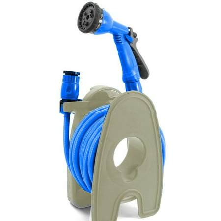 House Pipe - Patio Garden Portable Mini Garden Hose Pipe With Reel Stand