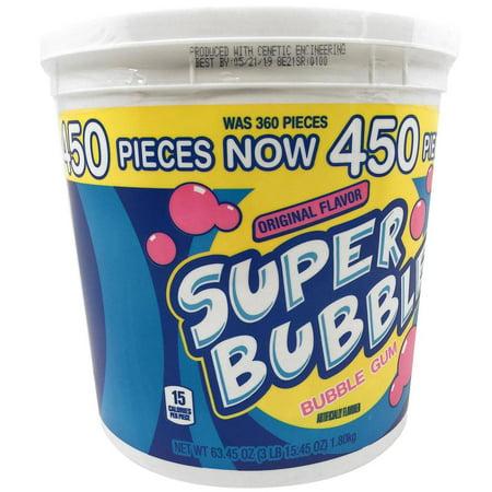 Super Bubble Gum (Super Bubble Original Bubble Gum (63.45 oz., 450 ct.) -Pack of)