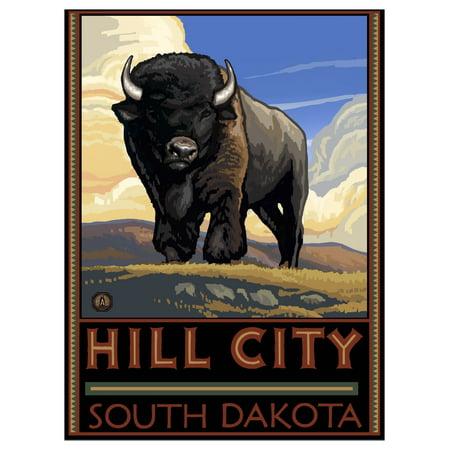 Party City South Hill (Hill City South Dakota Travel Art Print Poster by Paul A. Lanquist (9